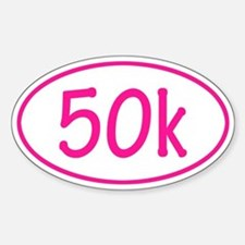 Pink 50k Oval Decal