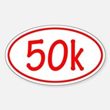 Red 50k Oval Decal