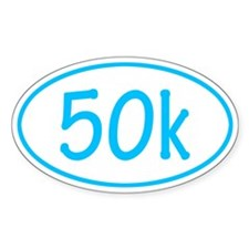 Sky Blue 50k Oval Decal