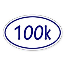 Blue 100k Oval Decal