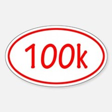 Red 100k Oval Decal