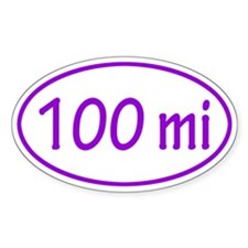 Purple 100 mi Oval Decal