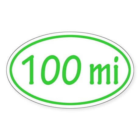 Lime 100 mi Oval Sticker