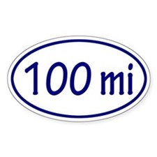 Blue 100 mi Oval Decal