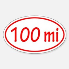 Red 100 mi Oval Decal