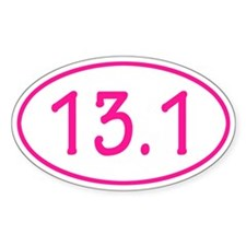 Pink 13.1 Oval Decal