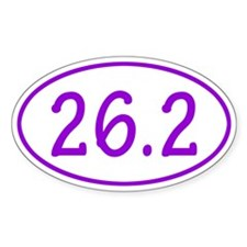 Purple 26.2 Oval Decal