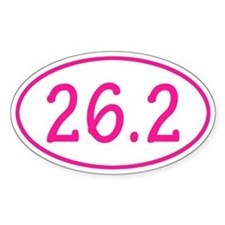 Pink 26.2 Oval Bumper Stickers