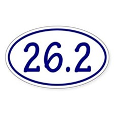 Blue 26.2 Oval Bumper Stickers
