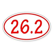 Red 26.2 Oval Decal