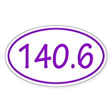Purple 140.6 Oval Decal