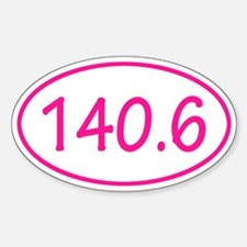 Pink 140.6 Oval Decal