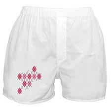 Pink Evil Argyle Boxer Shorts