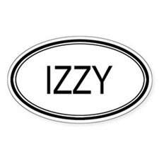 Izzy Oval Design Oval Bumper Stickers