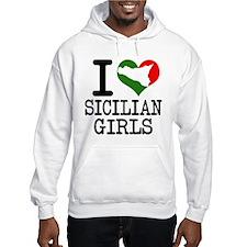 I Love Sicilian Girls Jumper Hoody