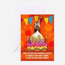 Fun Puffin Birthday Card With Birthday Cake And Ca