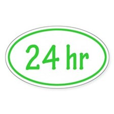 Lime 24 hr Oval Decal