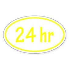 Yellow 24 hr Oval Decal