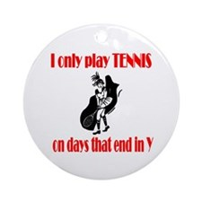 TennisChick Days Ornament (Round)