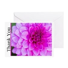 Thank You With Purple Dahlia Greeting Card