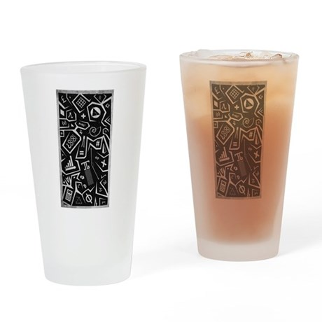 Math-a-Cons Drinking Glass