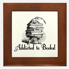 Addicted to Books! Framed Tile
