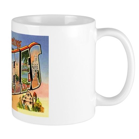 Los Angeles California Greetings Mug