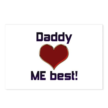 Daddy Loves ME best! Postcards (Package of 8)