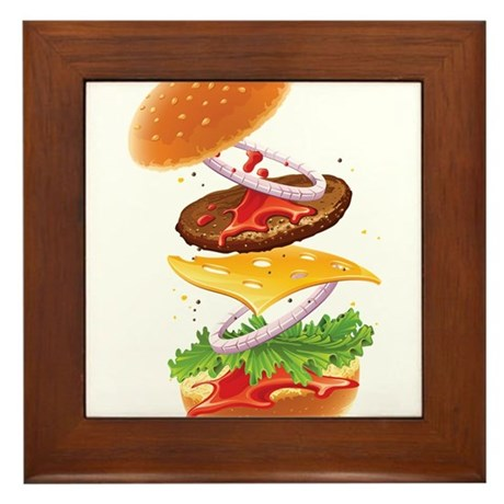 Cheeseburger - Deconstructed Framed Tile