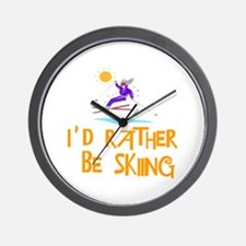 SportChick's SkiChick Rather be skiing Wall Clock