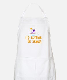 SportChick's SkiChick Rather be skiing BBQ Apron