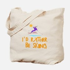 SportChick's SkiChick Rather be skiing Tote Bag