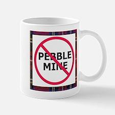 NoPebbleMine Mug (plaid)
