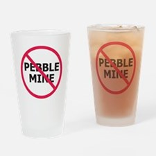 NoPebbleMine Drinking Glass