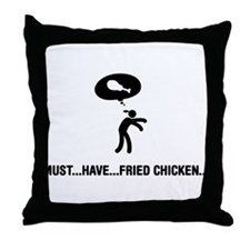 Fried Chicken Lover Throw Pillow