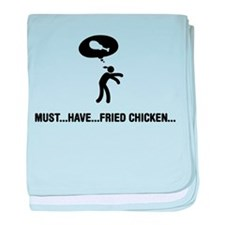 Fried Chicken Lover baby blanket