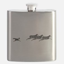 Tri-Color Sheltie on Sheep Flask