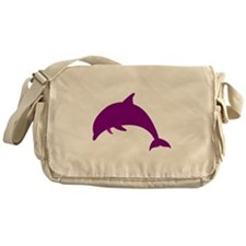 Purple Dolphin Messenger Bag