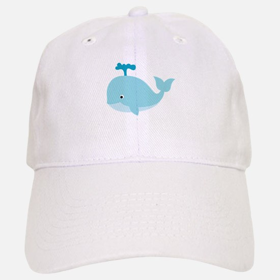 blue cartoon whale baseball cap killer