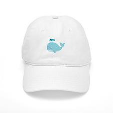 Blue Cartoon Whale Baseball Cap
