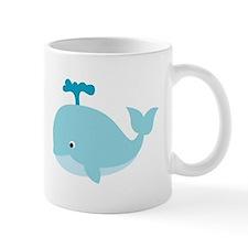 Blue Cartoon Whale Small Mug