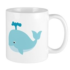 Blue Cartoon Whale Small Mug