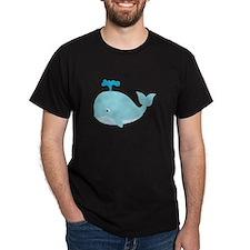 Blue Cartoon Whale T-Shirt