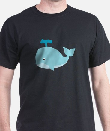 Blue Cartoon Whale T-Shirt