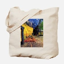 Cafe Terrace at Night by Vincent van Gogh Tote Bag