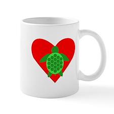 Green Turtle Heart Small Mug