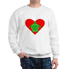 Green Turtle Heart Jumper
