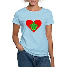 Green Turtle Heart T-Shirt