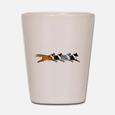 Group O' Shelties Shot Glass