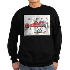 Red Ski Plane Sweatshirt